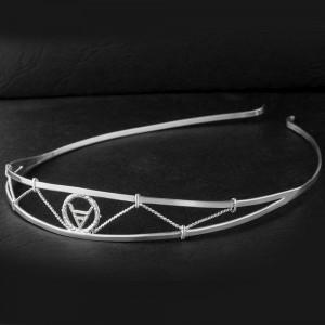 Ободок из серебра с символом Велеса